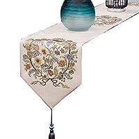 テーブルの旗 布テーブルクロス 寝室のベッドの旗 ワインのキャビネットのキャビネットの旗 ベッドのスカーフの布の装飾 (Color : Beige, Size : 32*160cm)