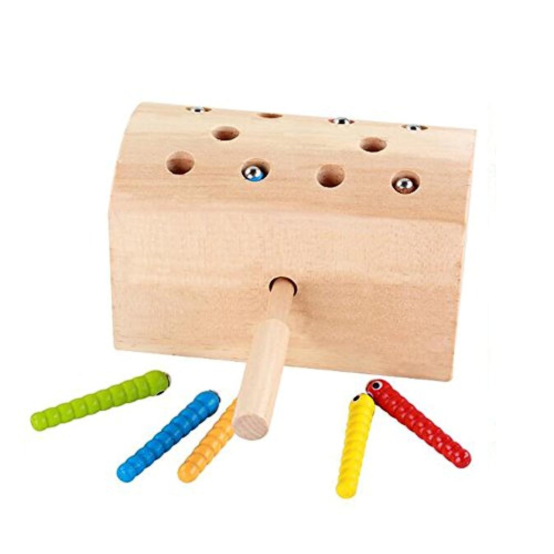 子パズル幼児教育木製おもちゃ、キャッチInsectペアリングゲーム