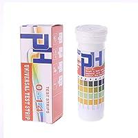 Baoyouls テストストリップ 150ストリップボトルpHテストストリップフルレンジ0-14 pH酸性アルカリインジケーター尿唾液ユニバーサル