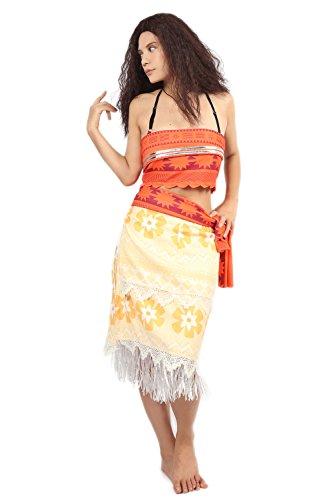 Xcostume モアナ風 コスチューム 伝説の海 衣装 クリスマス 変装 プレゼント 女性 子供 可愛いcostume 2016 M