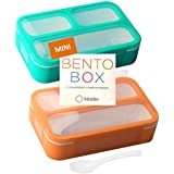 Mini Lunch-Box Snack Containers for Kids   Small Bento-Box Portion Container   Toddler Pre-School   Leak-Proof Boxes for Work
