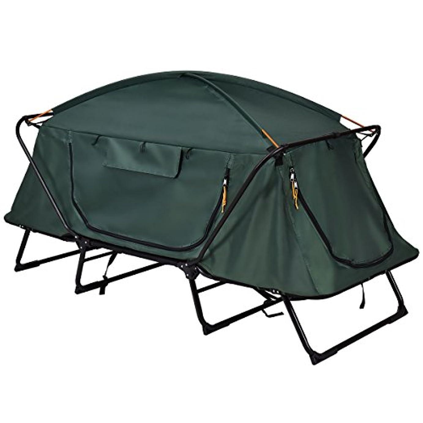海藻才能スタッフHeavens Tvcz キャンプ用コット テント 寝る 特大 折りたたみ式 ベッド 折りたたみ式 1人用 高所 防水 キャリーバッグ付き ハイキング アウトドア