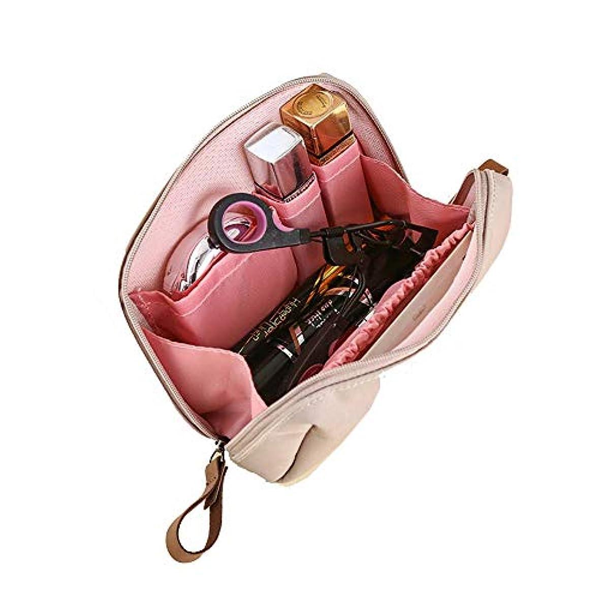 貴重な過剰スツールMOCOFO 無地の化粧ポーチ コスメポーチ小物入れ ペンケース ピンク 大容量レディバニティバッグ