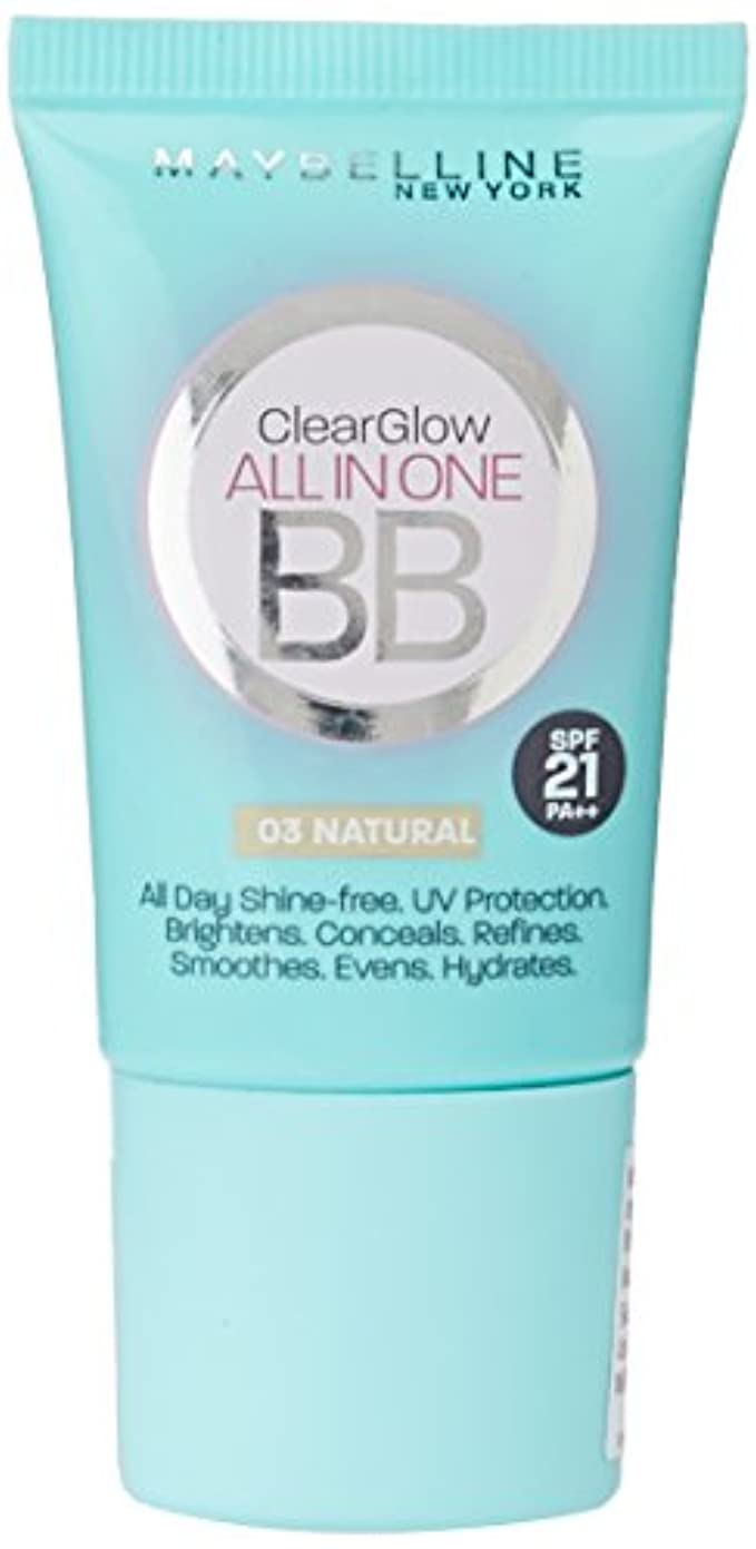 慣れている分析保持Maybelline New York BB Cream, Natural, SPF 21 PA++, 18ml