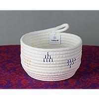 Iceblue Exquisite DesignfulソフトキーボウルWelcomeバスケット ホワイト 34101353