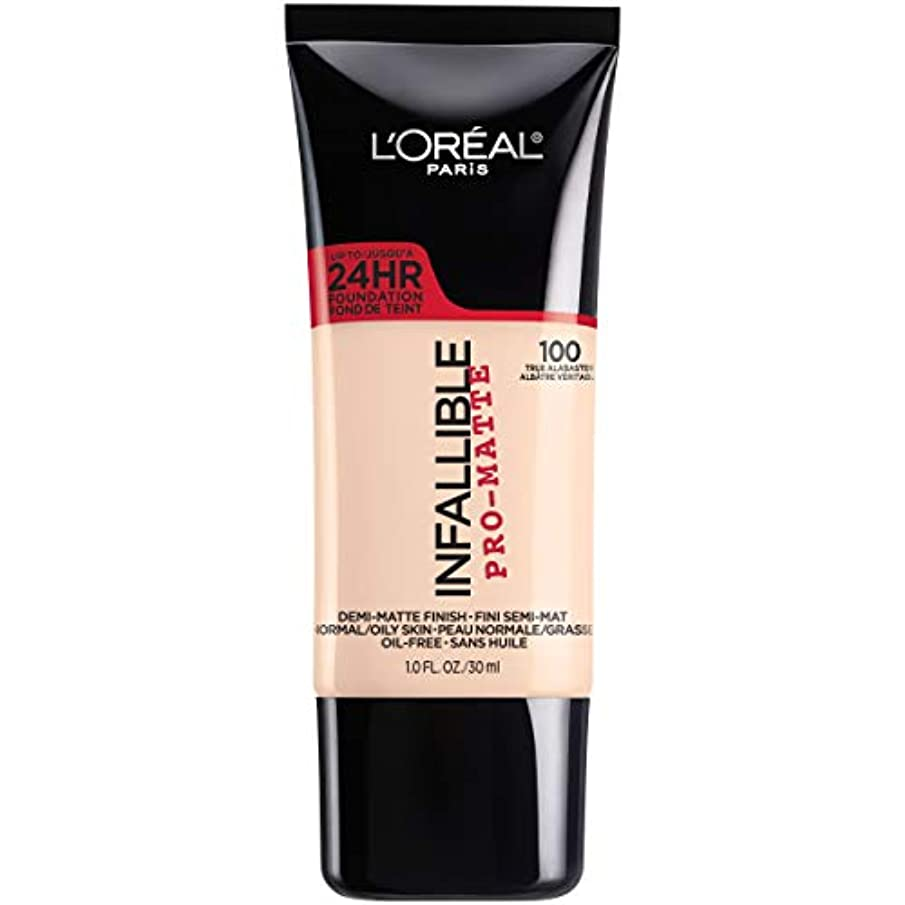 手入れ好色な運命L'Oréal Infallible Pro-Matte Liquid Longwear Foundation (TRUE ALABASTER)