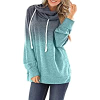 Womens Cowl Neck Sweatshirts and Hoodies Long Sleeve Junior Pullover Activewear Tunic Tops
