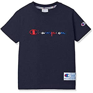 [チャンピオン]スクリプトロゴTシャツ CS4563 ボーイズ ネイビー 日本 140 (日本サイズ140 相当)