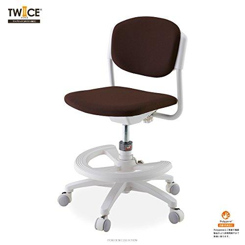 ITOKI(イトーキ) TWICE(トワイス) KS5 回転チェア ポリジン加工ファブリック (アンバーブラウン)