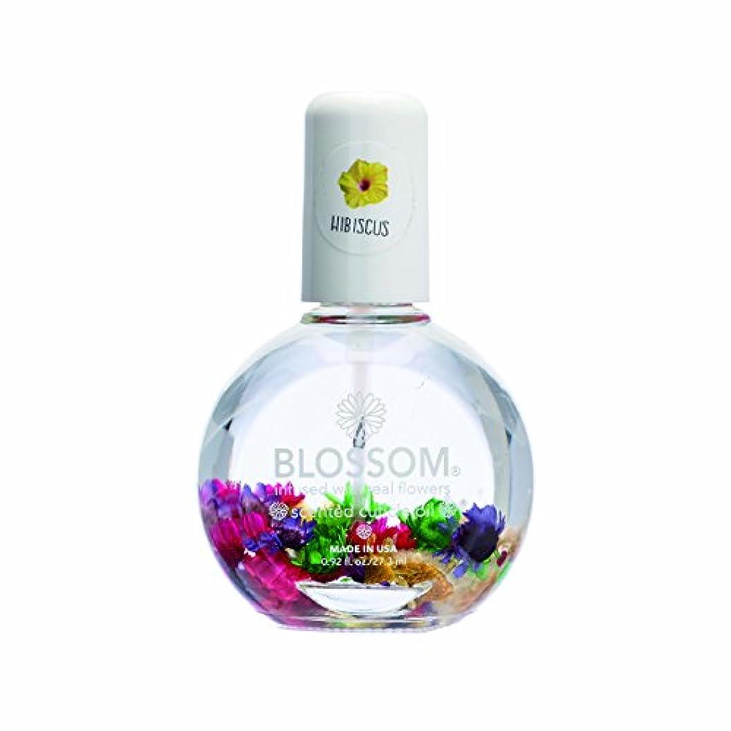 処理アルプス社会学Blossom ネイルオイル フラワー 1OZ ハイビスカス WBLCO122-5