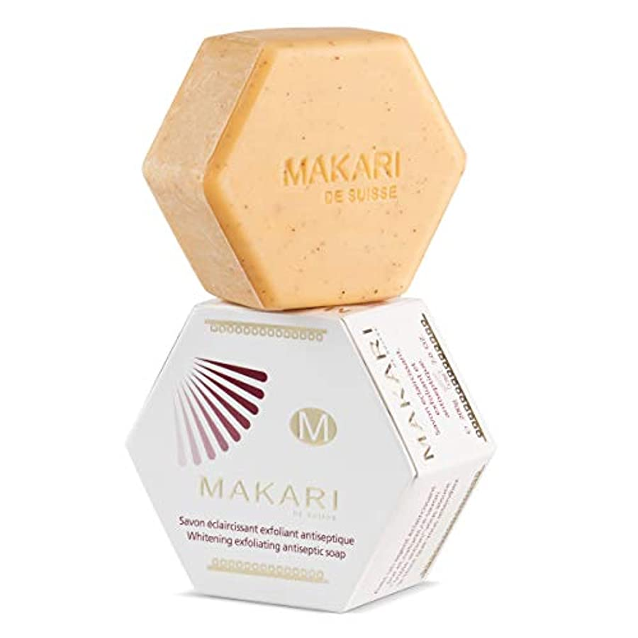 腐ったアスペクト反発MAKARI Classic Whitening Exfoliating Antiseptic Soap 7 Oz.– Cleansing & Moisturizing Bar Soap For Face & Body...