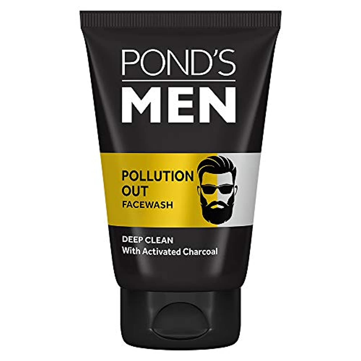 荒野対角線嵐Pond's Men Pollution Out Activated Charcoal Deep Clean Facewash, 50 g