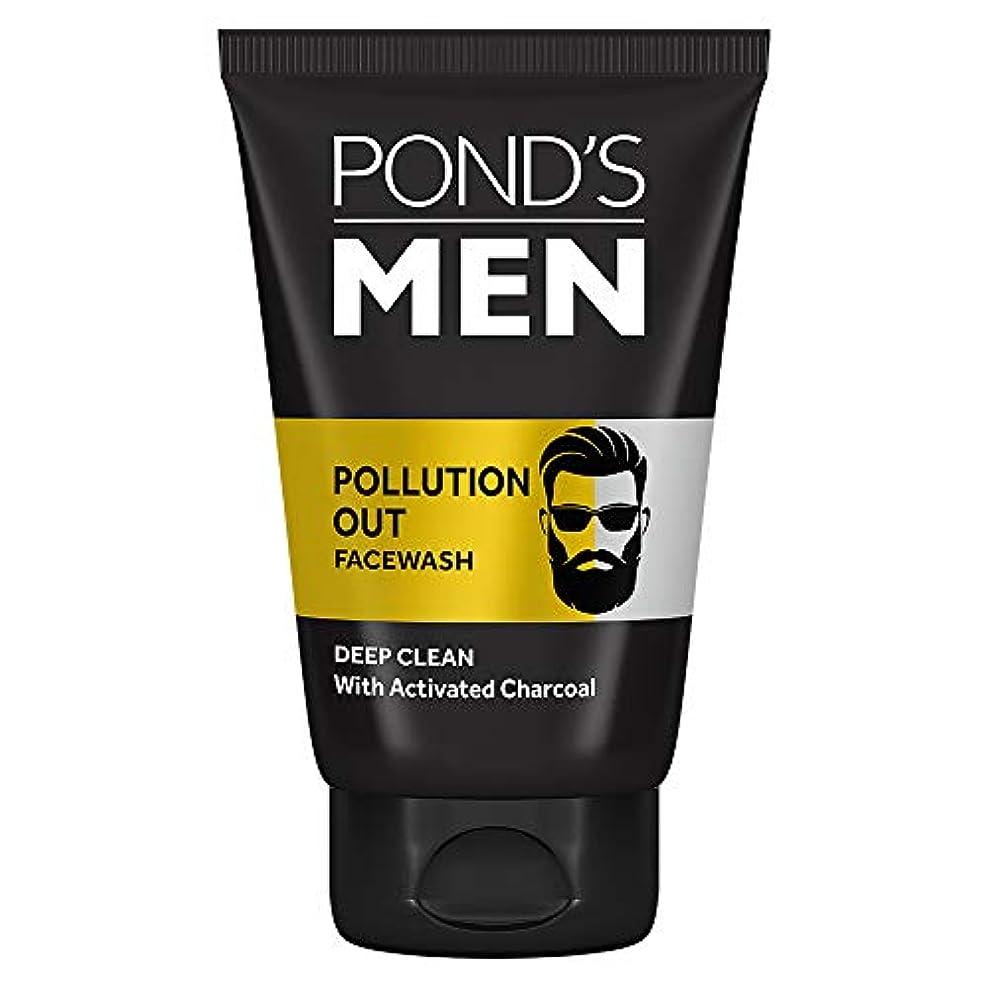 柔らかい足長いです招待Pond's Men Pollution Out Activated Charcoal Deep Clean Facewash, 50 g
