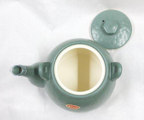 煎じ用土びん  亀甲土瓶 (高級耐熱) 1.5リットル 緑色