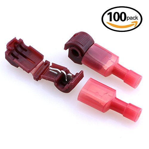 Hilitchi 100個12–10ゲージナイロン完全にinsulated-maleスペードターミナルとクイックスプライス電気ワイヤコネクタ詰め合わせキット HNQR-1