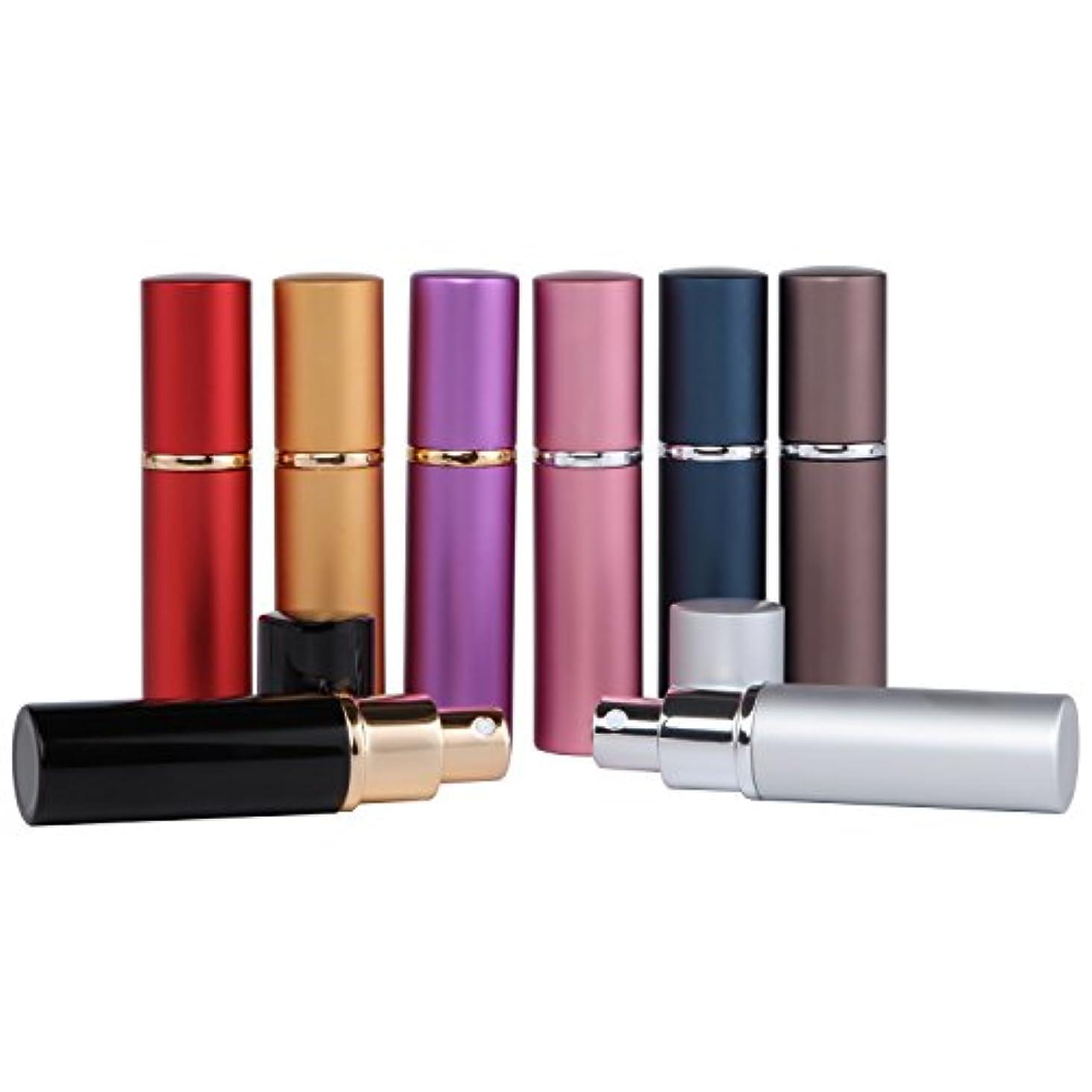 アトマイザー 香水 携帯 詰め替え ボトル 香水スプレー ポータブル 香水噴霧器 小分けボトル プッシュ式 通勤 旅行 ミニ 10mL 8色セット