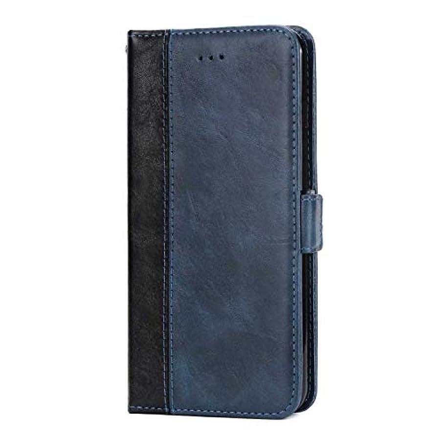 仕様終点つかの間OMATENTI Huawei P20 Pro 手帳ケース マグネット式 カバー Huawei P20 Pro 高級PUレザー カードポケット スタンド機能 薄型 スマホケース(3-ブルー)