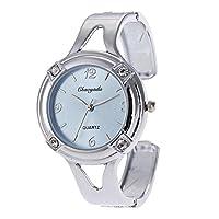 MOZISEN スタイリッシュな時計 時計ケース(ダイヤモンド付き)英語の時計ファッションレディースブレスレットウォッチ 美しい時計 (Color : 2)
