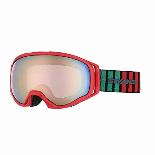 SWANS(スワンズ) ゴーグル スキー スノーボード O-060MDHS R レッド