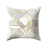 幾何学模様投げ枕カバー、見えないジッパー付きリビングルームソファ車の寝室用クッションケースクリスマス家の装飾