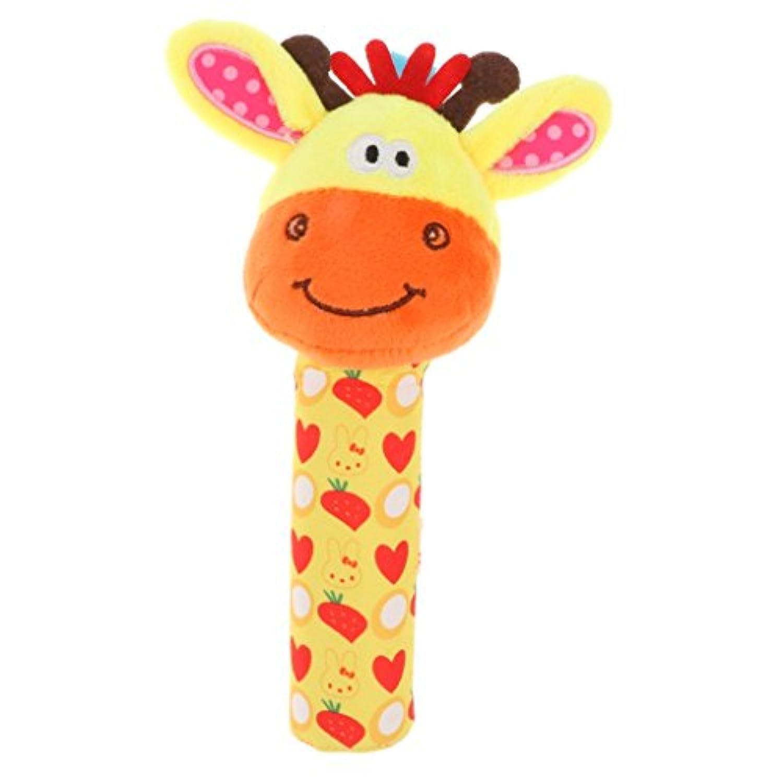 Baoblaze かわいい ぬいぐるみおもちゃ 動物形 赤ちゃん 柔らかい 手のラトル スクイーズスティック 全4色 - #1