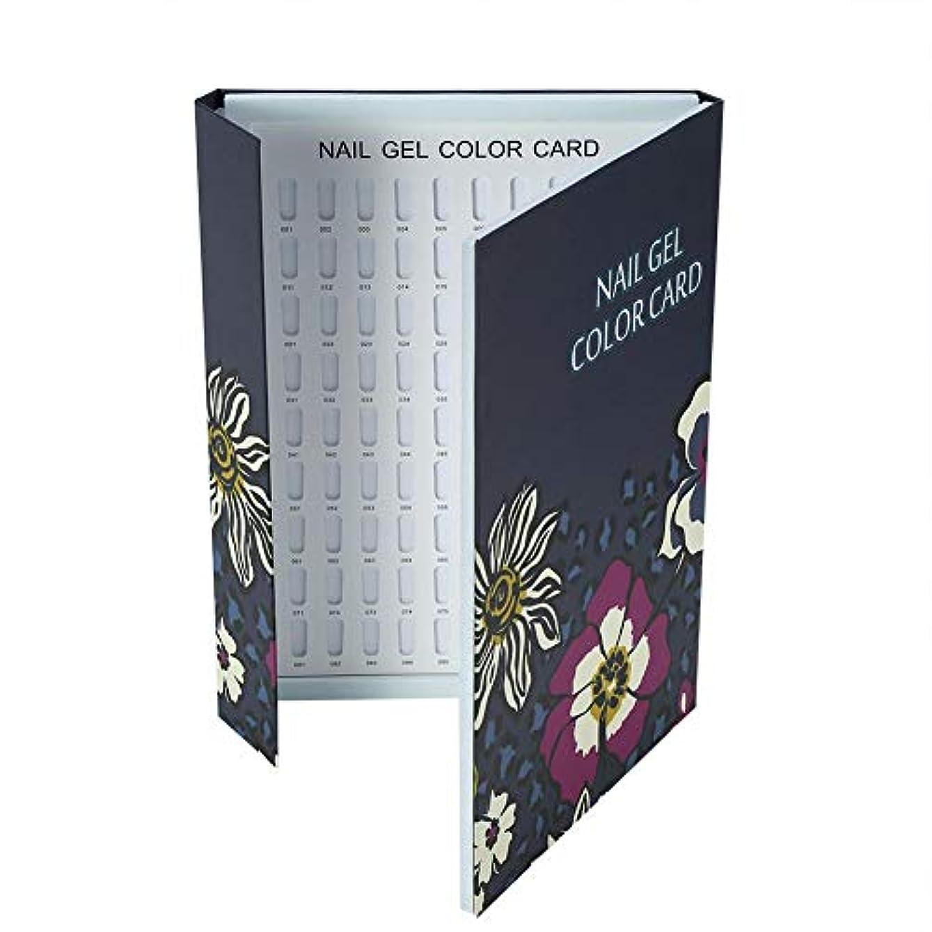 歩く揺れるスイス人カラーチャート ネイル - Delaman ネイル 色見本、ブック型、180色、カラーガイド、ジェルネイル、サンプル帳、ネイルアート、サロン、青/緑 (Color : 青)