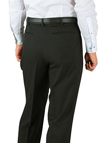 春夏 大きいサイズ W130cm まで対応 洗える 爽快 サマー スラックス ( ツータック ) (裾上げ不可) 2T/ブラック 100cm