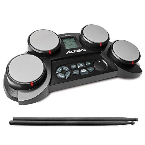 Alesis ポータブル電子ドラムキット コーチ機能搭載 ドラムスティック付き CompactKit4