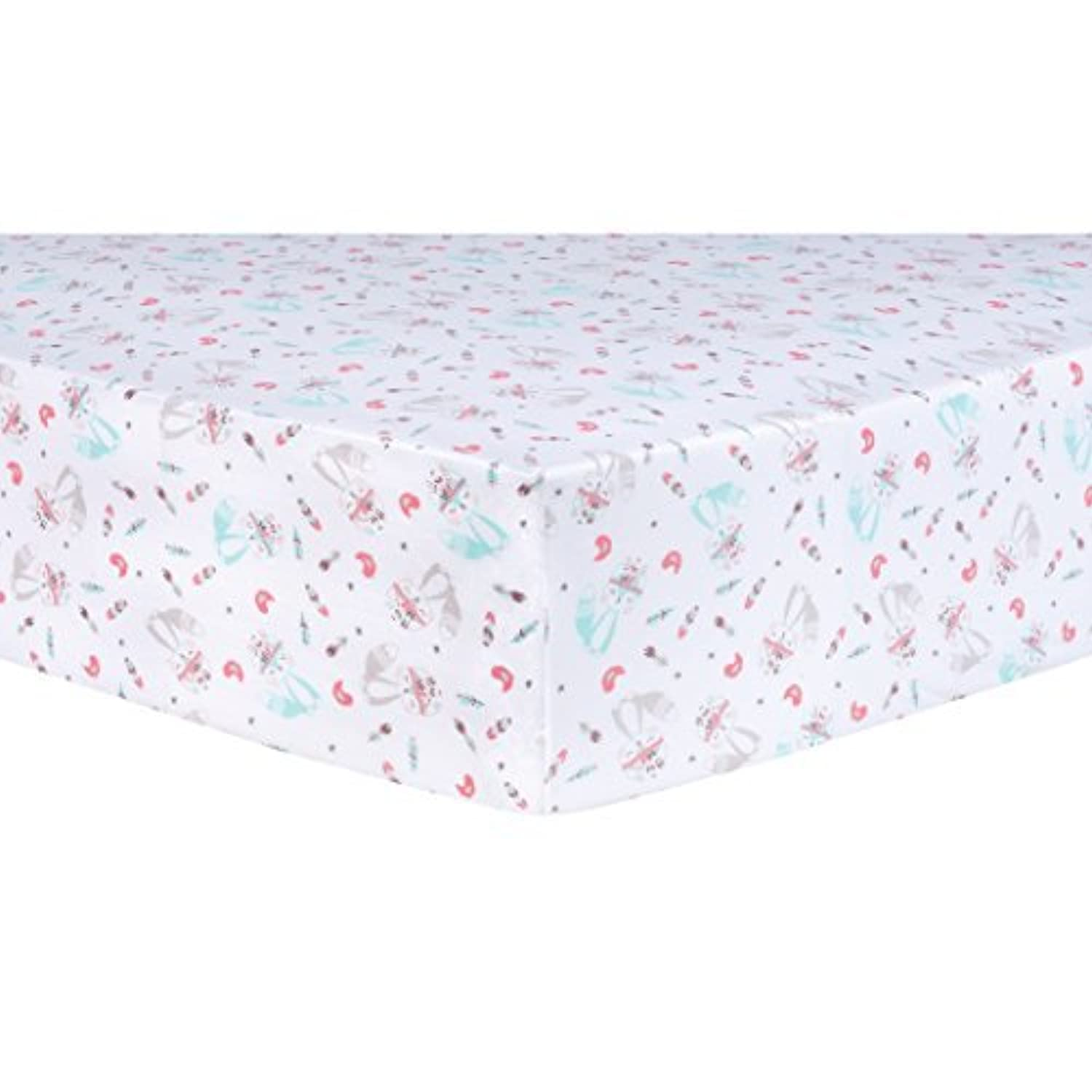Trend Lab Fox and Flowers Fitted Crib Sheet Multi [並行輸入品]