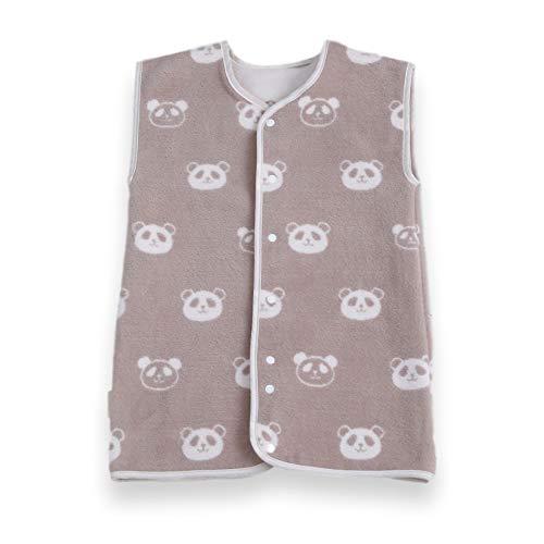 はぐまむ hugmamu® 日本製 綿毛布 スリーパー 秋 冬 着る毛布 (パンダ ブラウン, ベビー 2way 39×55)6811-15