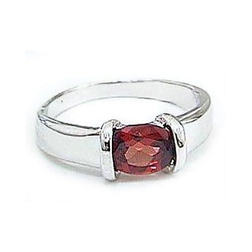 [アトラス] Atrus ガーネット リング ホワイトゴールドK18 18金 リング 指輪 K18WG 3号 ファッションリング