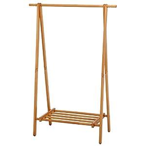 不二貿易 木製ハンガー ジョイント 幅100cm ナチュラル 12970