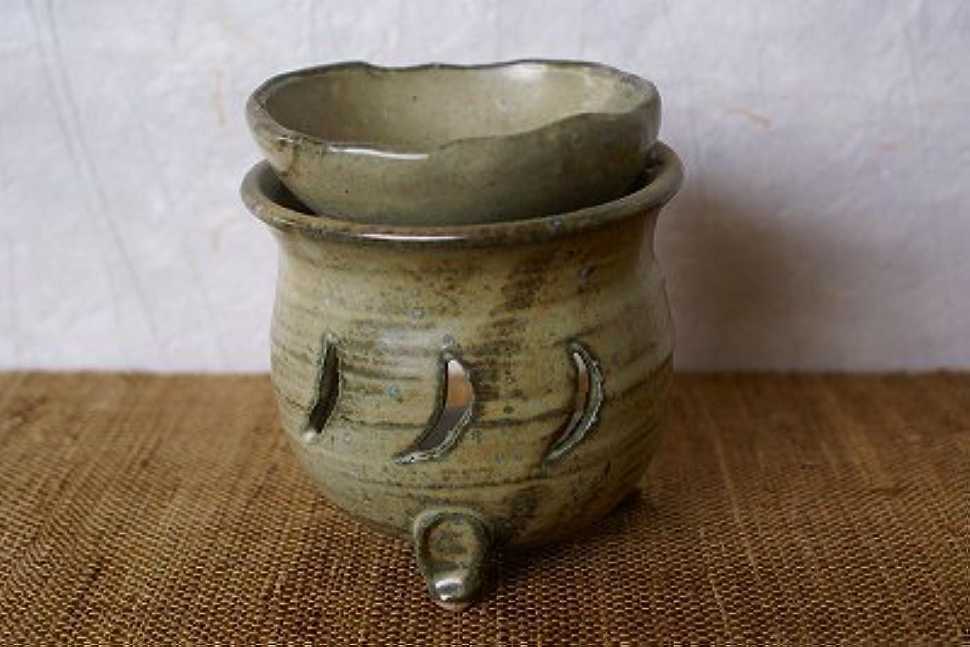 クルーズ無線ボランティア信楽焼 茶香炉 月 サイズ:約直径9.5×10cm