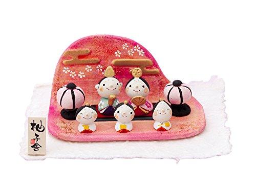 桃の節句 ひな人形 柚子舎 童錦 五人飾り HK714