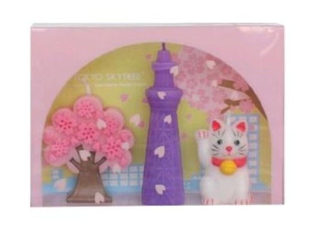膨らませるタンパク質白い東京スカイツリー(R)桜BOX
