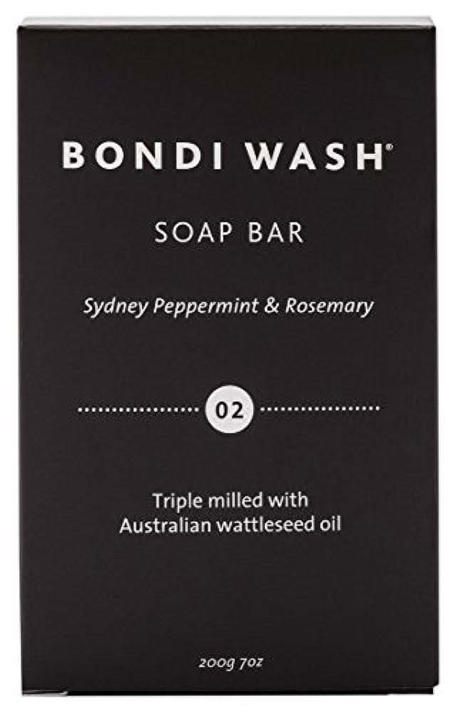 クリーナー団結するライムBONDI WASH ソープバー(固形石鹸) シドニーペパーミント&ローズマリー 200g