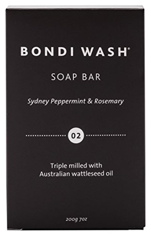 寝室を掃除するフォーマット独特のBONDI WASH ソープバー(固形石鹸) シドニーペパーミント&ローズマリー 200g