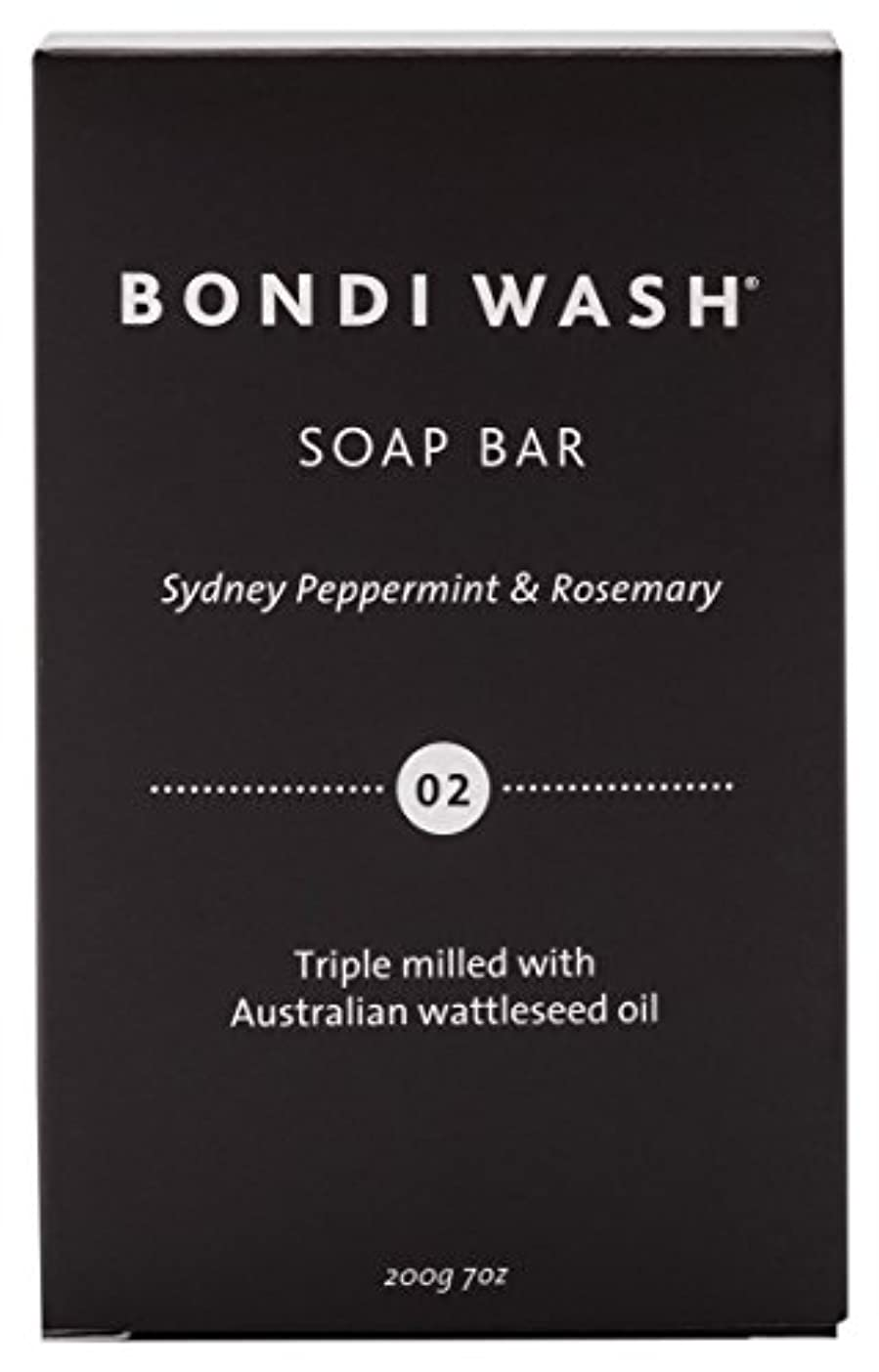 昆虫を見る解釈的の前でBONDI WASH ソープバー(固形石鹸) シドニーペパーミント&ローズマリー 200g