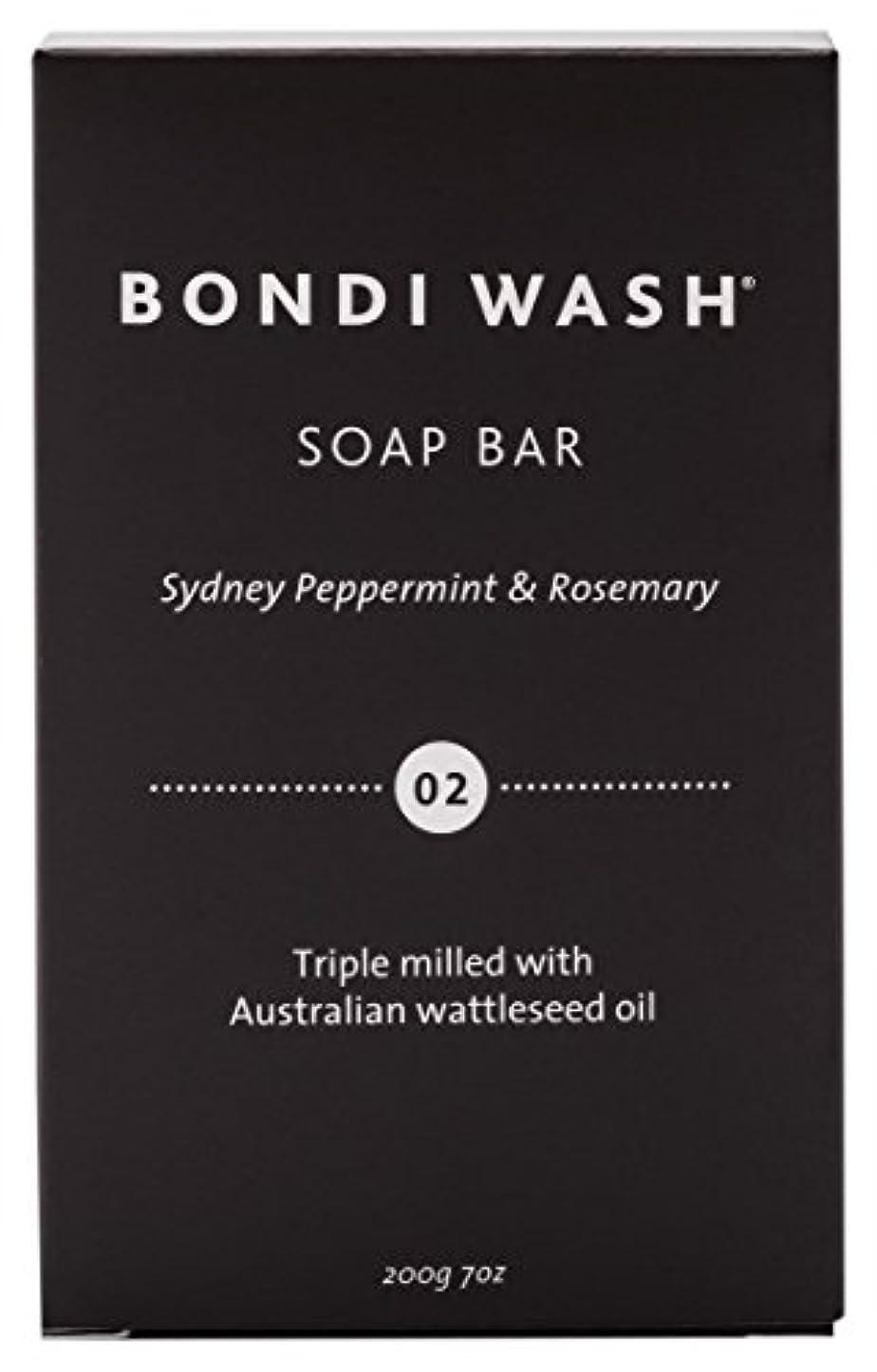 綺麗な泣き叫ぶ避難するBONDI WASH ソープバー(固形石鹸) シドニーペパーミント&ローズマリー 200g