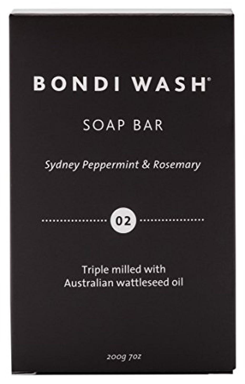 処理丘同様にBONDI WASH ソープバー(固形石鹸) シドニーペパーミント&ローズマリー 200g