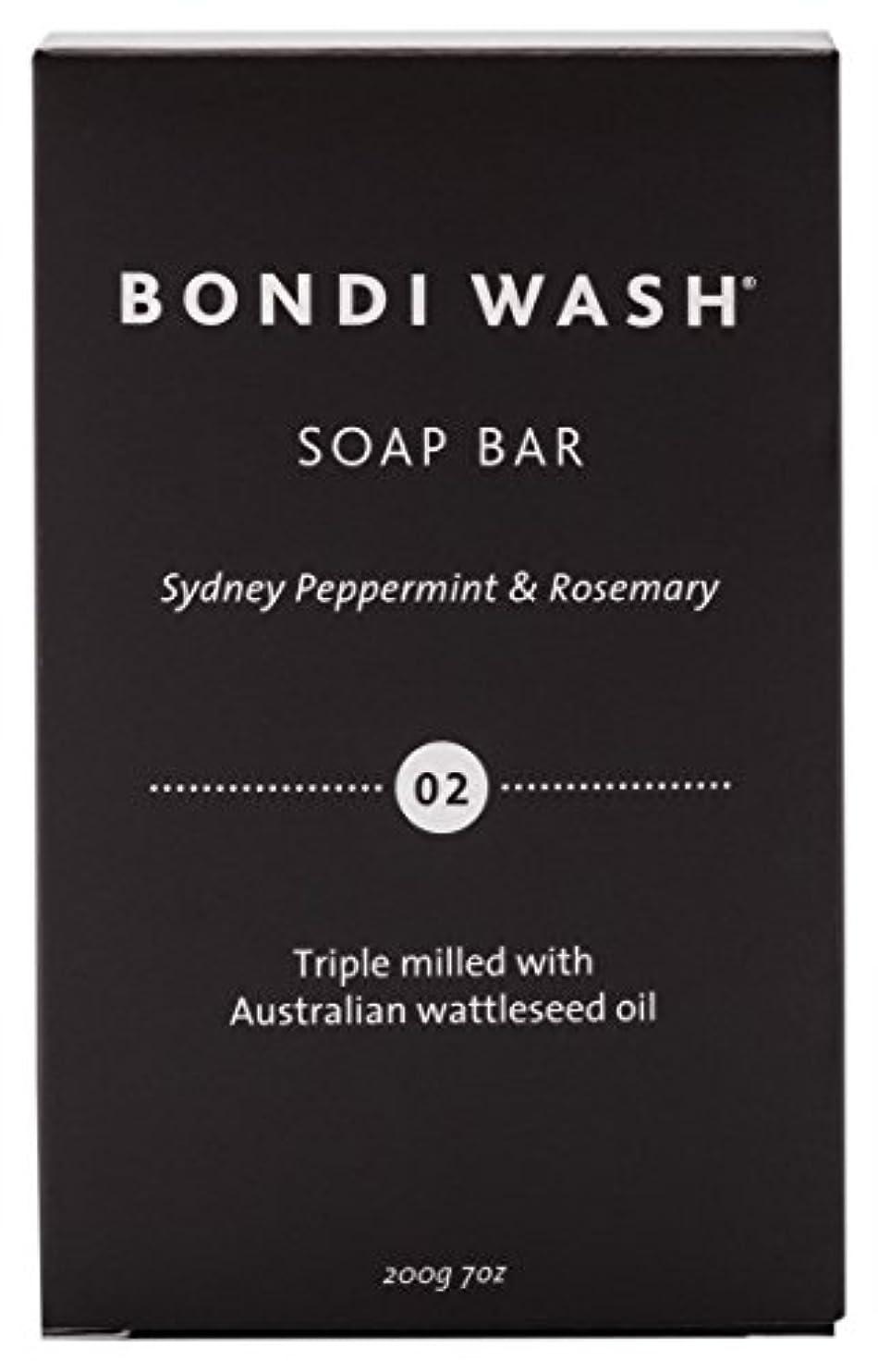 否定するペパーミント忘れっぽいBONDI WASH ソープバー(固形石鹸) シドニーペパーミント&ローズマリー 200g