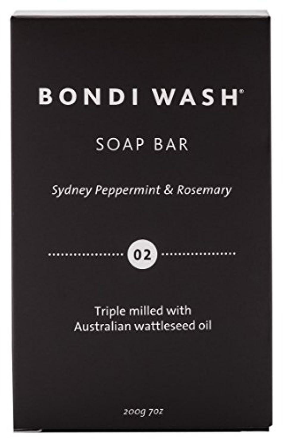 おもしろい敷居超越するBONDI WASH ソープバー(固形石鹸) シドニーペパーミント&ローズマリー 200g