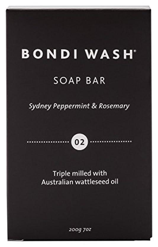 樹皮説明する狂乱BONDI WASH ソープバー(固形石鹸) シドニーペパーミント&ローズマリー 200g