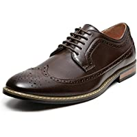 ZRIANG Men's Wingtip Brogue Leather Lined Lace-up Oxford Dress Shoes