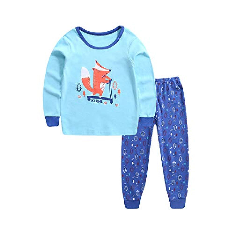(ビメイゴー) Bmeigo パジャマ キッズ 子供服 女の子 男の子 ルームウェア 寝間着 長袖 綿 動物柄 部屋着 上下セット 女児 男児 幼児服 ベビー 柔らかい 可愛い 快適 全6タイプ