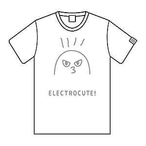 ELECTROCUTICA 締切厳守TシャツA1 ロゴ織タグ付 (S,WHITE×SILVER)