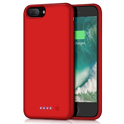 iPhone7Plus/8Plus/6Plus/6sPlus 対応 バッテリー内蔵ケース 8500mAh iPhone7plus 対応 バッテリーケース スリム 充電ケース iphone6 plus 対応 ケース バッテリー内蔵 大容量 250% バッテリー容量追加 レッド 5.5インチ用