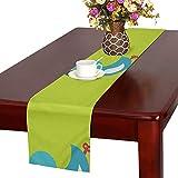 GGSXD テーブルランナー すばしこい アヒル クロス 食卓カバー 麻綿製 欧米 おしゃれ 16 Inch X 72 Inch (40cm X 182cm) キッチン ダイニング ホーム デコレーション モダン リビング 洗える