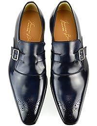 [フランチェスコべニーニョ] FRANCESCO BENIGNO メンズ ビジネスシューズ スリッポン メダリオン 本革 ドレスシューズ イタリア製 革靴 紳士靴 【 G3627-CB31-CPZ 】