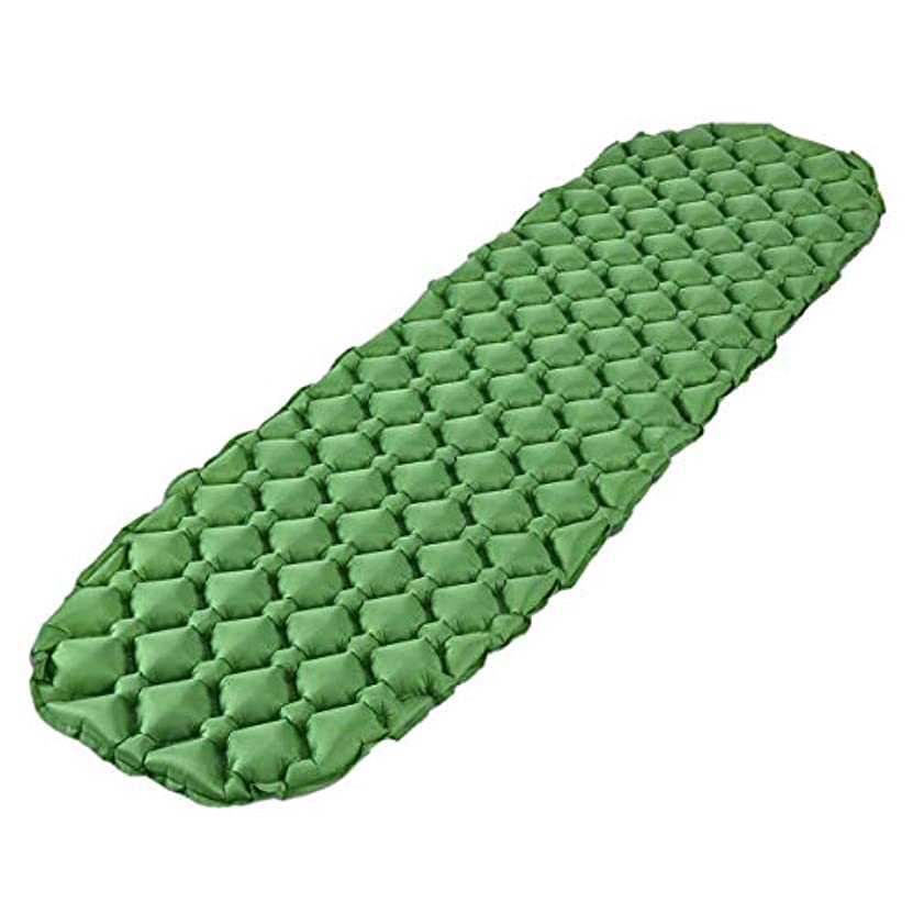 報酬のバンドル雇ったTOOGOO ハイキング、バックパッキング、ハンモック、テント用インフレータブル睡眠マットキャンプマットレスインフレータブルロールマットコンパクト&防湿(グリーン)
